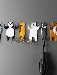 cheap -Lovely animal Fridge Hook Key Wall Crochet Holder Removable Kitchen Hooks Home Decor key holder wall can Washed holder wall hook