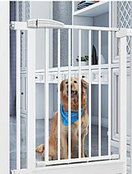 Недорогие -Собаки Коты Pet Gate Панели расширения Влажная чистка Прочный Установленное давление пластик Нержавеющая сталь S L Белый 1 шт.