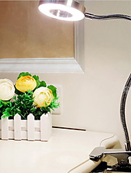 Недорогие -Настольная лампа Защите для глаз / LED Современный современный Работает от USB Назначение Спальня / Кабинет / Офис <36V Серебряный / Черный