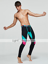 cheap -TAUWELL Men's Leggings Running Tights Compression Pants Sports Winter Bottoms Running Jogging Training Breathable Quick Dry Moisture Wicking Color Block Black Dark Blue / Micro-elastic / Skinny