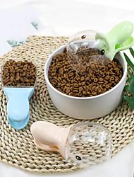 Недорогие -Собаки Коты Кормушки / Хранение продуктов питания 0.01 L Кожа другого типа Повседневная Лолита Зеленый Синий Бежевый Чаши и откорма