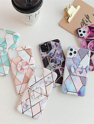 cheap -Phone Case For Apple Back Cover iPhone 12 Pro Max 11 SE 2020 X XR XS Max 8 7 6 with Stand Plating IMD Geometric Pattern Marble TPU