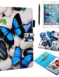 Недорогие -кейс&усилитель; Стилус&усилитель; 1 шт. Экран защиты для Apple Ipad Mini 12345 с подставкой / флип / ультратонкий задняя крышка бабочка искусственная кожа
