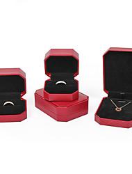 Недорогие -Квадратный Упаковка ювелирных изделий - Золотой, Красный 4 cm 7.5 cm 5.5 cm / Жен.