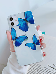 cheap -Case For Apple iPhone 11 11 Pro  11 Pro Max Blue butterfly pattern High penetration TPU material Painting process scratch proof phone case