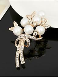 Недорогие -броши из циркония женские классические розы стильные простые классические брошь ювелирные изделия золото серебро для вечеринки подарок повседневная работа фестиваль