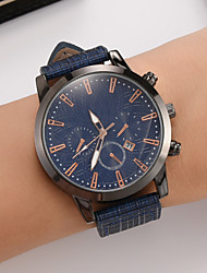 cheap -Men's Dress Watch Quartz Stylish Leather Brown 30 m Casual Watch Analog Casual Fashion - Silver+Orange Blue Brown One Year Battery Life