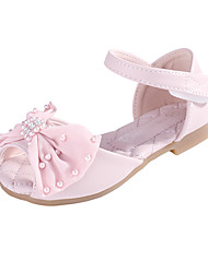 cheap -Girls' Comfort / Flower Girl Shoes Microfiber Sandals Little Kids(4-7ys) / Big Kids(7years +) Bowknot / Pearl Pink / Ivory Spring / Fall / Peep Toe / Rubber