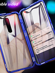 cheap -Magnetic Double Sided Case For OnePlus Oneplus 7 pro / one plus 7T / one plus 7T Pro Shockproof / Mirror / Magnetic Full Body Cases Solid Colored Tempered Glass / Metal