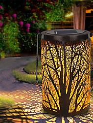 Недорогие -Европейские и американские ретро солнечные садовые фонари декоративный световой эффект эффект фары светодиодные фонари ночные огни белый внешний вид под дерево эффект романтический стиль 3 Вт 1