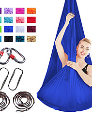 cheap -Aerial Yoga Swing Set Yoga Hammock / Sling Kit 7 pcs Extension Straps Sports Nylon Aerial Yoga Inversion Exercises Air Yoga Ultra Strong Antigravity Anti-tear Decompression Inversion Therapy Heal