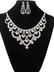 cheap -Women's Jewelry Set Classic Flower Stylish Imitation Diamond Earrings Jewelry White For Party Evening Festival 1 set