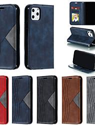 Недорогие -чехол для apple iphone 11/11 pro / 11 pro max / x / xs / xr / xs max / 7p / 8p / 7/8 держатель карты / противоударный / флип чехлы для тела сплошная цветная кожа