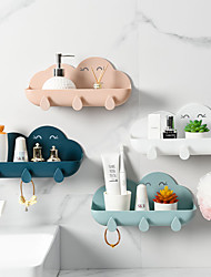 cheap -Cloud Shape Soap Box Punch-free Key Holder Home Storage Dishs Bathroom Kitchen Holder Tray Accessories Bathroom Gadgets