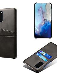 Недорогие -чехол для телефона для samsung galaxy s20 / s20 plus / s20 ultra / s10 plus / s10 / s10 lite держатель карты против падения задняя крышка сплошной цвет искусственная кожа