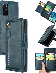 cheap -Samsung S20Urtal Retro Leather Case With Zipper Buckle All-inclusive Mobile Phone Shell Note10Plus Anti-fall Multi-plug Card Position S10Plus Protective Shell