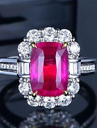 cheap -Women's Ring 1pc Gold Copper Imitation Diamond Round Stylish Gift Festival Jewelry Classic Flower