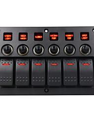 Недорогие -3-контактный автомобильный DC12V / 24V на 6 положений с переключателем на комбинированной панели объективов / IP65 / с защитой от перегрузки / широкий спектр применения