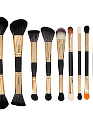 cheap -Professional Makeup Brushes 10pcs Full Coverage Aluminium Alloy 7005 / Wooden / Bamboo for Makeup Brushes