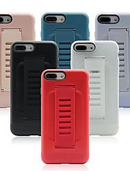 Недорогие -iphone11pro макс чистый цвет подушка безопасности силиконовое кольцо король чехол для телефона хз макс небьющиеся простой 7/8 плюс крышка