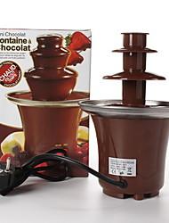 Недорогие -трехслойное фондю шоколадный фонтан машина автоматическая башня плавления водопад горячий горшок расплава 300 г емкость