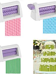 cheap -Rolling Pin Embosser Machine Roller Set Baking Tools For Cakes Fondant Strip Ribbon Cutter Sugar Craft
