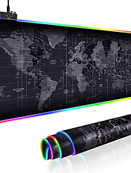 cheap -300*800mm LED Roll Up Large Size Gaming Mouse Pad XXL Stitched Edges Keyboard Cover Desk-mat Colorful Luminous for PC Computer Desktop 7 Colors LED Light Desk Mat Gaming Keyboard Pad
