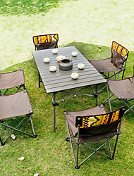 cheap -Male Wolf Outdoor Folding Table And Chair Set Portable Picnic Table 7-piece Wild Self-driving Leisure Table And Chair
