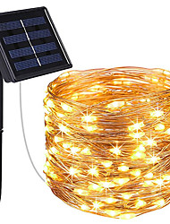 cheap -Solar Power LED Fairy String Lights 10M 20M IP65 Holiday Lights 100Leds 200Leds For Christmas New Year Garland Decor Warm White Lighting