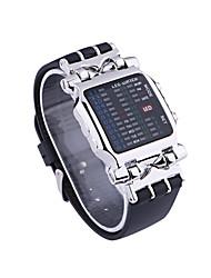 Недорогие -Универсальные электронные часы Цифровой Старинный Стильные Нержавеющая сталь Черный 30 m Защита от влаги Календарь Светодиодная лампа Цифровой На каждый день Винтаж - Чёрный / Серебряный / Два года