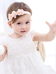 cheap -Fabric Headbands Durag Kids Flower Bowknot For New Baby Holiday Stylish Active Pink White 1 Piece