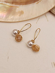 cheap -Women's Drop Earrings Hollow Out Fashion Stylish Imitation Pearl Earrings Jewelry Gold For Gift Date 1 Pair