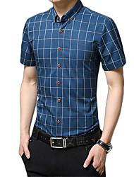 cheap -Men's Daily Work Business / Basic Shirt - Plaid Red