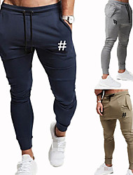 cheap -Men's Jogger Pants Joggers Running Pants Track Pants Sports Pants Athletic Athleisure Wear Bottoms Drawstring Cotton Sport Running Jogging Training Breathable Soft Moisture Wicking Black Burgundy