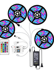 cheap -LED Light Strips WiFi Wireless RGB Tiktok Lights LED Smart Light waterproof 3528 1200LEDs 20M With 24 Keys Remote Control Flexible Tape Lights Fits AlexaGoogle Home and 12V 8A power adapter
