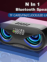 cheap -M6 Bluetooth Speaker Cool Owl Design Bluetooth Speaker LED Flash Wireless Loudspeaker FM Radio Alarm Clock TF Card Support Select Songs By Number