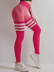 cheap -Women's Basic Slim Sweatpants Pants - Striped Black Red Yellow S / M / L