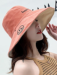 cheap -Sun Hat Fishing Hat Fisherman Hat Hat 1 PCS Portable Sunscreen UV Resistant Breathable Solid Color Letter & Number Cotton Autumn / Fall Spring Summer for Women's Camping / Hiking Hunting Fishing