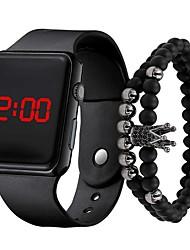 Недорогие -Мужчина женщина электронные часы Цифровой Современный силиконовый Черный 30 m ЖК экран Cool Цифровой На каждый день Cool - Красный + Золотой Лиловый Золотой Один год Срок службы батареи