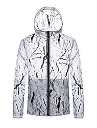 cheap -Men's Daily / Sports Basic Spring &  Fall / Spring & Summer Regular Jacket, Color Block / Camo / Camouflage Hooded Long Sleeve Nylon Print Yellow / Blue / White