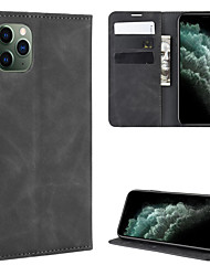 cheap -For Apple iPhone 11 / iPhone 11 Pro / iPhone 11 Pro Max Retro-skin Business Magnetic Suction Leather Case with Holder & Card Slots & Wallet