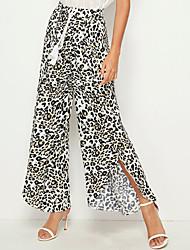 Недорогие -женская мода свободные леопардовым принтом причинно длинные брюки брюки брюки