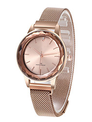 cheap -Women's Quartz Watches Quartz Stylish Glitter Sparkle Water Resistant / Waterproof Diamond Stainless Steel White / Silver / Multi-Colored Analog - Rose Gold White+Pink Black One Year Battery Life