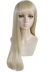 Недорогие -ГАГА ЛЕДИ Косплэй парики Жен. Прямая челка 26 дюймовый Термостойкое волокно Естественные прямые Блондинка Блондинка Аниме