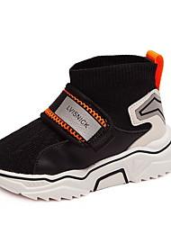 Недорогие -Девочки Удобная обувь Сетка Спортивная обувь Маленькие дети (4-7 лет) Беговая обувь Черный / Бежевый Лето