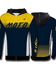 Недорогие -голова лисы желто-синий внедорожный мотоцикл флисовый свитер мотоцикл джерси езда на велосипеде одежда скоростной спуск одежда спорт на открытом воздухе досуг куртка мото