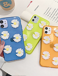 cheap -Case For Apple iPhone 11  11 Pro  11 Pro Max Three-dimensional small daisy pattern TPU material DIY scratch-resistant mobile phone case
