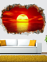 cheap -Landscape Wall Stickers Living Room, Removable PVC Home Decoration Wall Decal 60*40cm