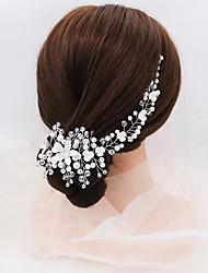 Недорогие -Модные ювелирные изделия кубического циркония сплава повязки для волос палочка со стразами имитация жемчужные кристаллы 2 шт. свадьба вечерний головной убор