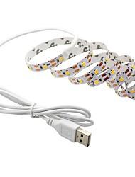 cheap -2m Flexible LED Light Strips Flexible Tiktok Lights 60 LEDs SMD5050 Warm White Decorative TV Background 5 V